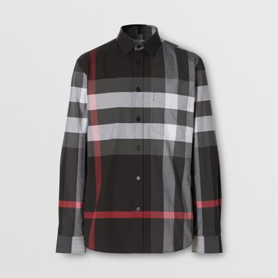 black burberry shirt mens Online