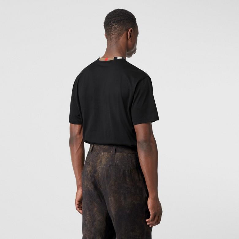 Burberry - T-shirt en coton à rayures iconiques - 3