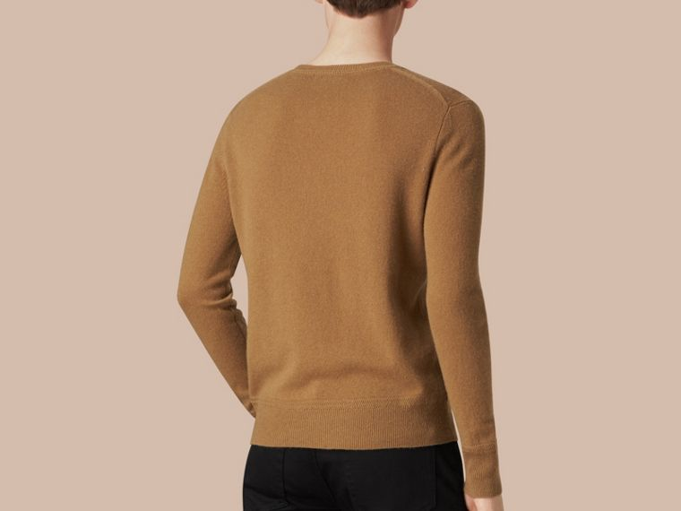 Crew Neck Cashmere Sweater Mid Camel - cell image 1