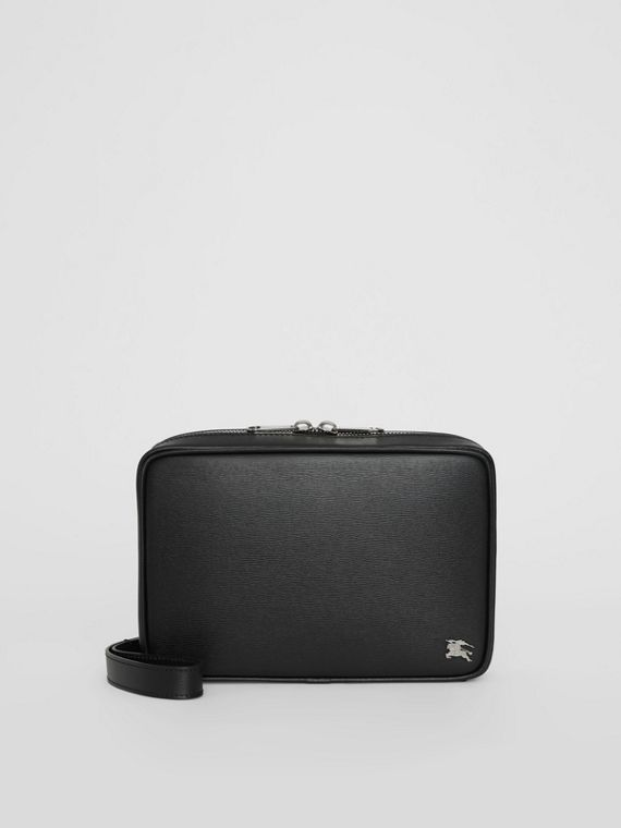 London Leather Travel Pouch in Black