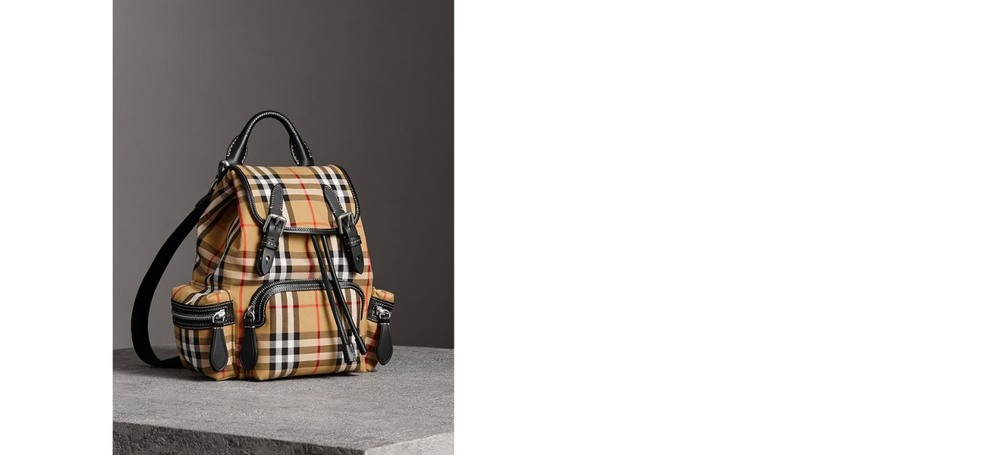 BURBERRY. THE SMALL CROSSBODY RUCKSACK IN VINTAGE CHECK ed5286c808009