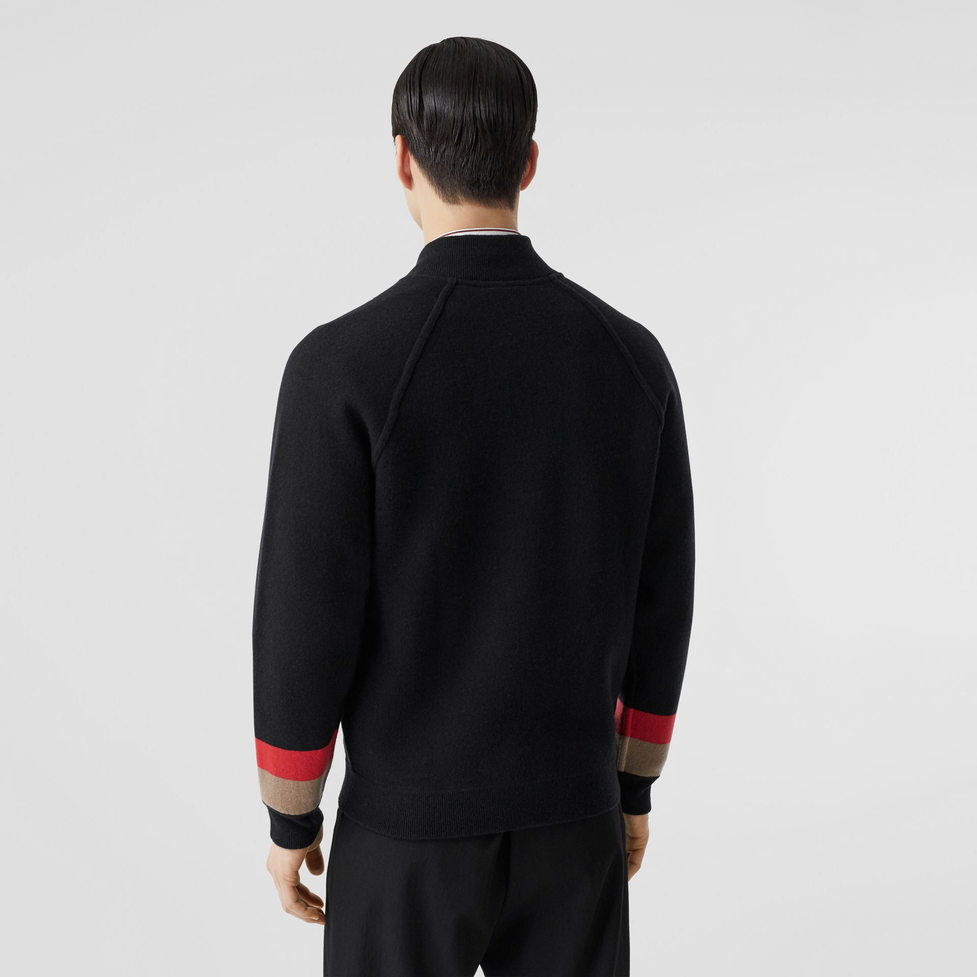 Double-faced Wool Cashmere Blend Bomber Jacket in Black | Burberry - gallery image 2