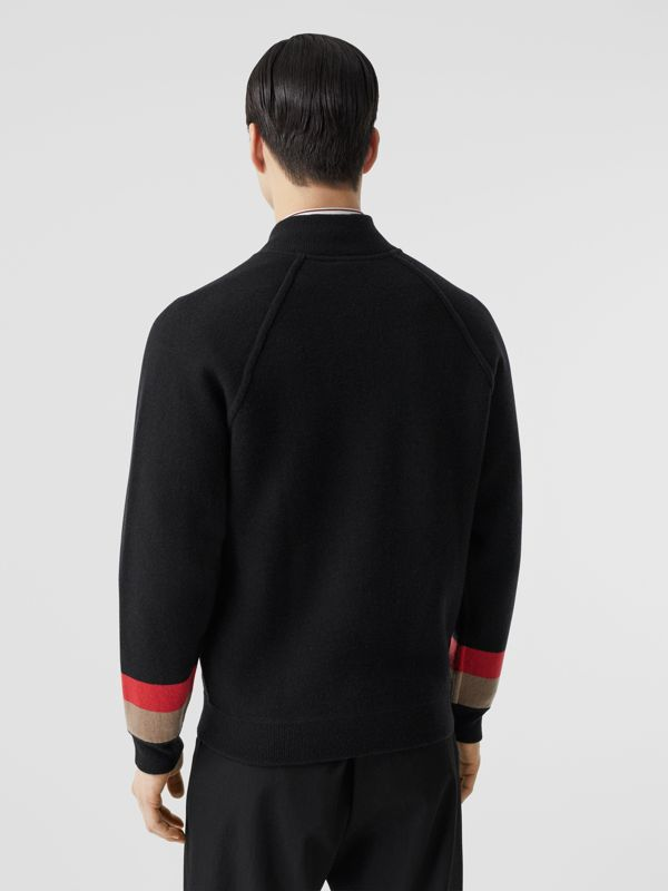 Double-faced Wool Cashmere Blend Bomber Jacket in Black | Burberry - cell image 2