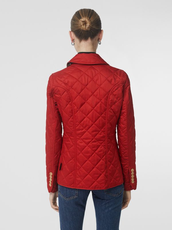 Diamond Quilted Jacket in Military Red - Women | Burberry United States - cell image 2
