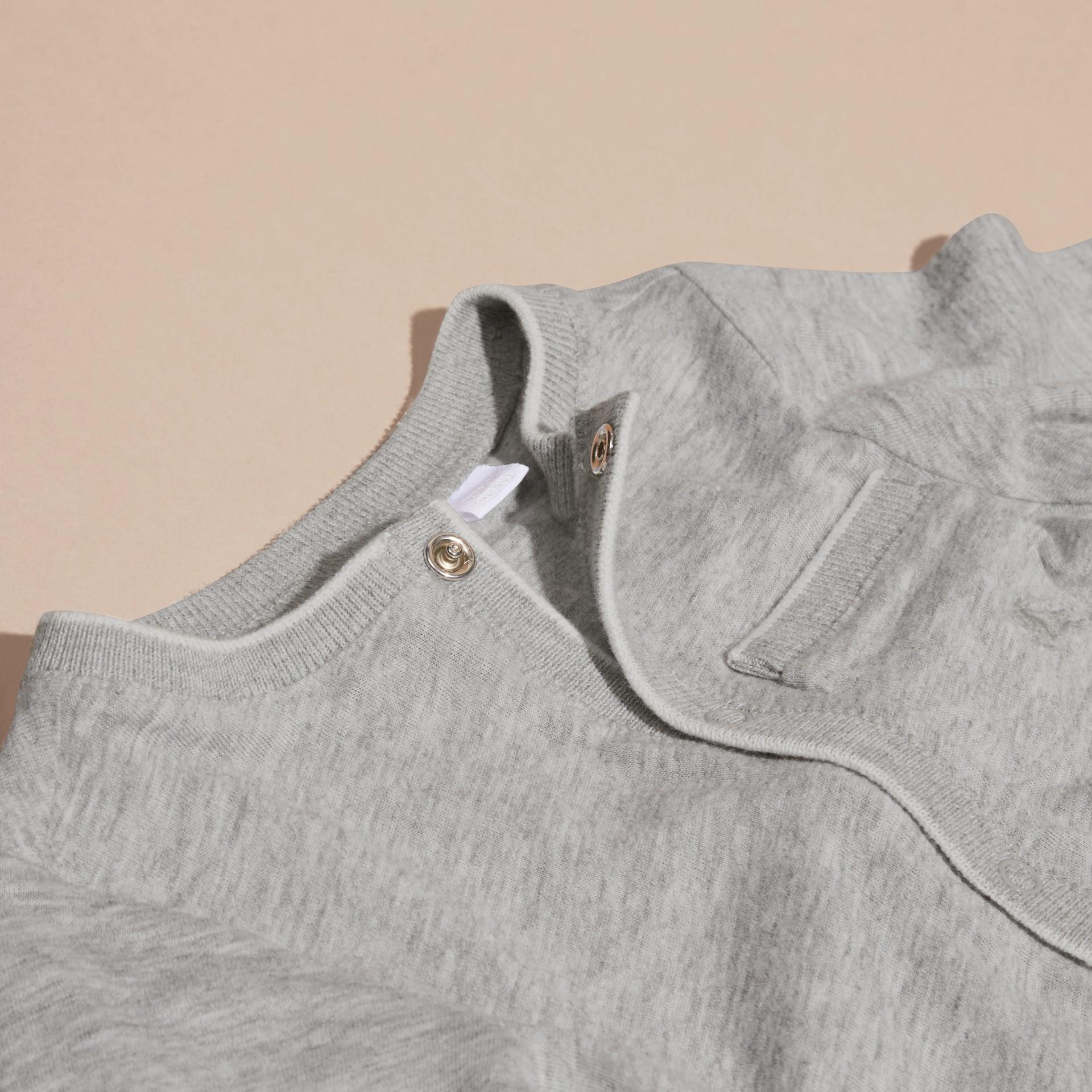 Mezcla de gris Conjunto de regalo para bebé de dos piezas en algodón - imagen de la galería 2