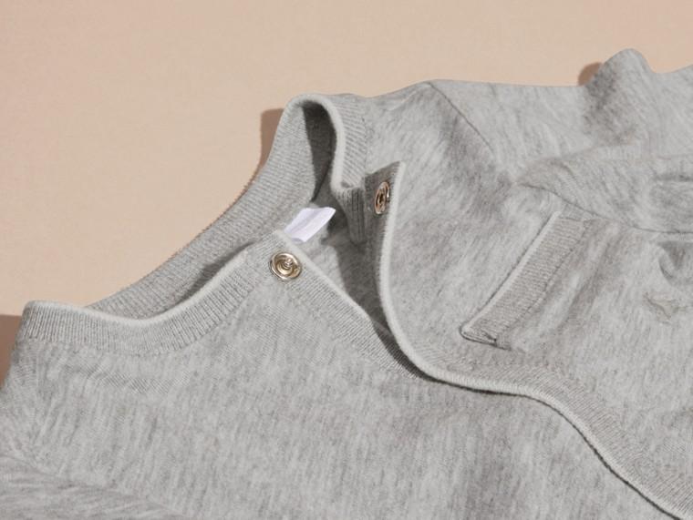 Mezcla de gris Conjunto de regalo para bebé de dos piezas en algodón - cell image 1