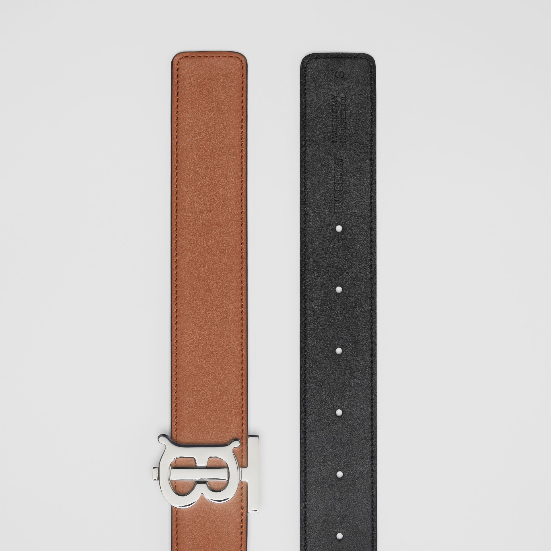 Reversible Monogram Motif Leather Belt in Malt Brown/black - Women | Burberry United Kingdom - gallery image 6