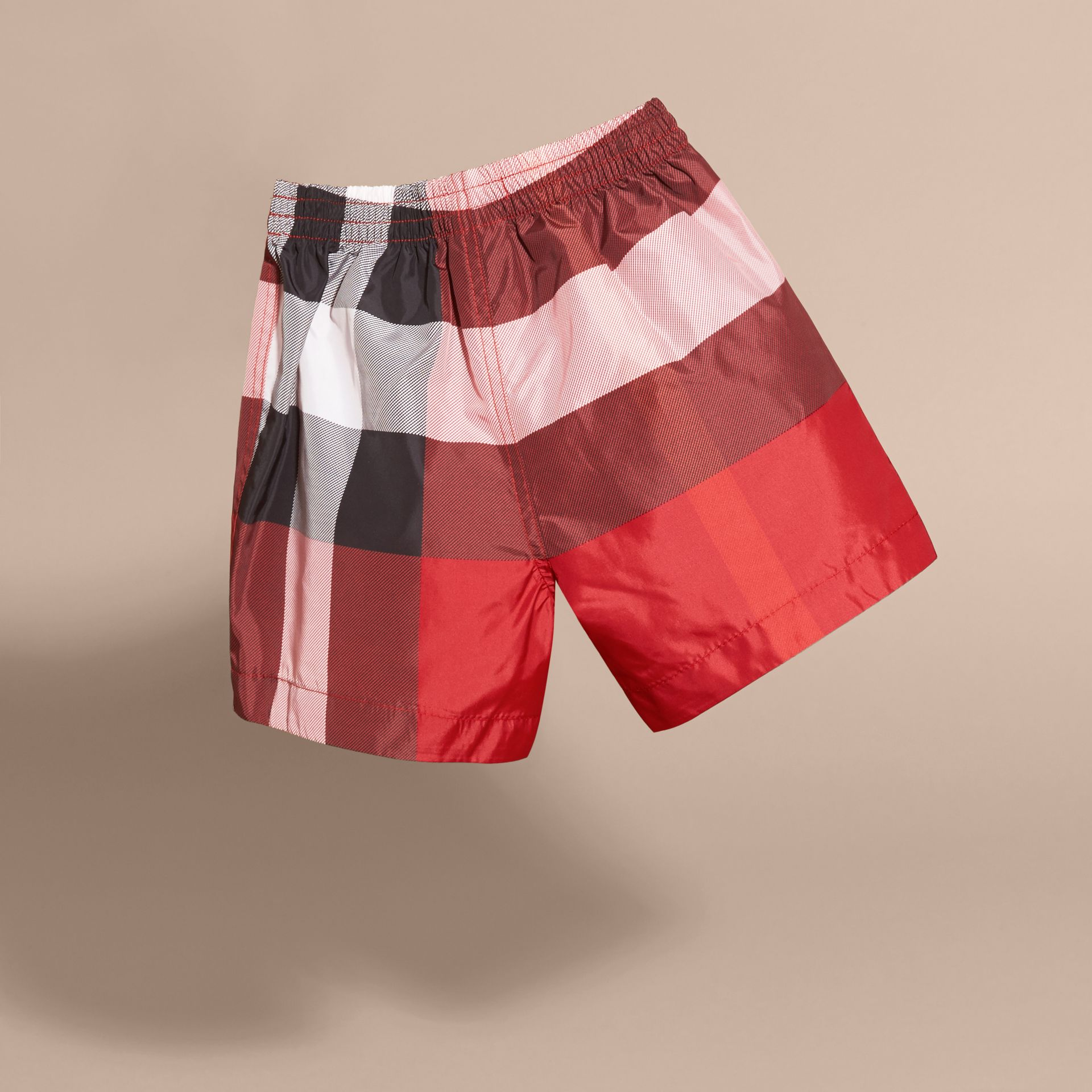 Check Swim Shorts in Parade Red | Burberry Hong Kong - gallery image 4