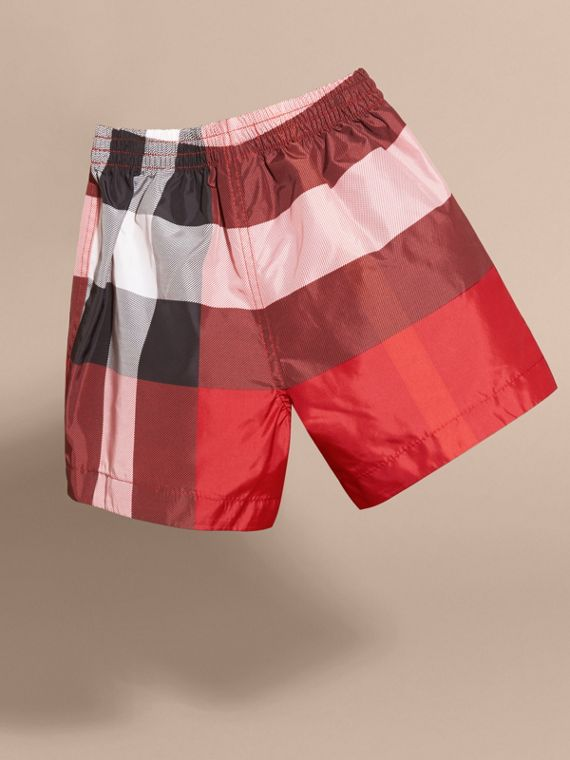Check Swim Shorts in Parade Red | Burberry - cell image 3