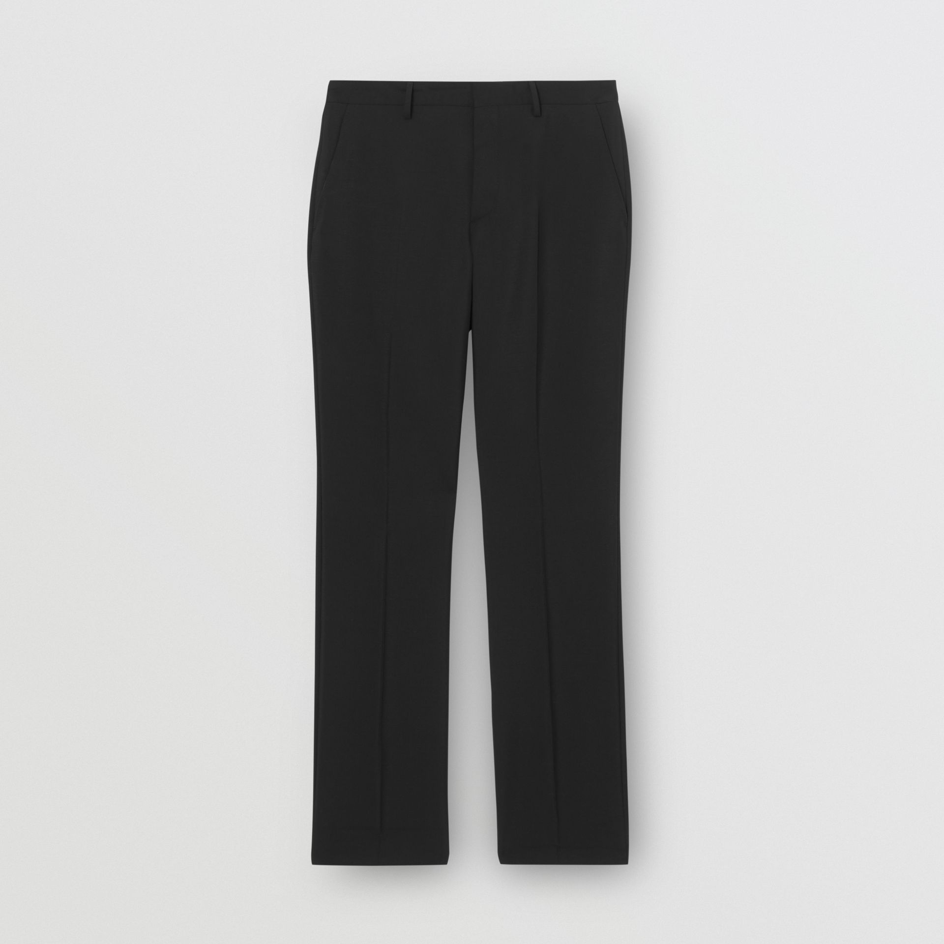 Soho Fit Bullion Stripe Wool Twill Tailored Trousers in Black - Men | Burberry United States - gallery image 3