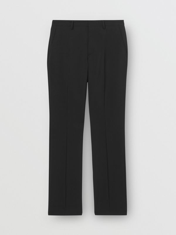 Soho Fit Bullion Stripe Wool Twill Tailored Trousers in Black - Men | Burberry Australia - cell image 3