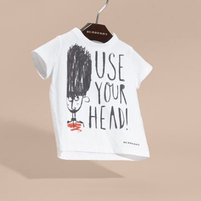 Use Your Head 图案棉质 T 恤衫 产品图片21