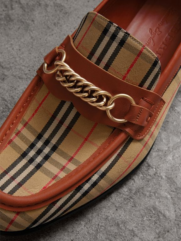 The 1983 Check Link Loafer in Brick Red | Burberry - cell image 1