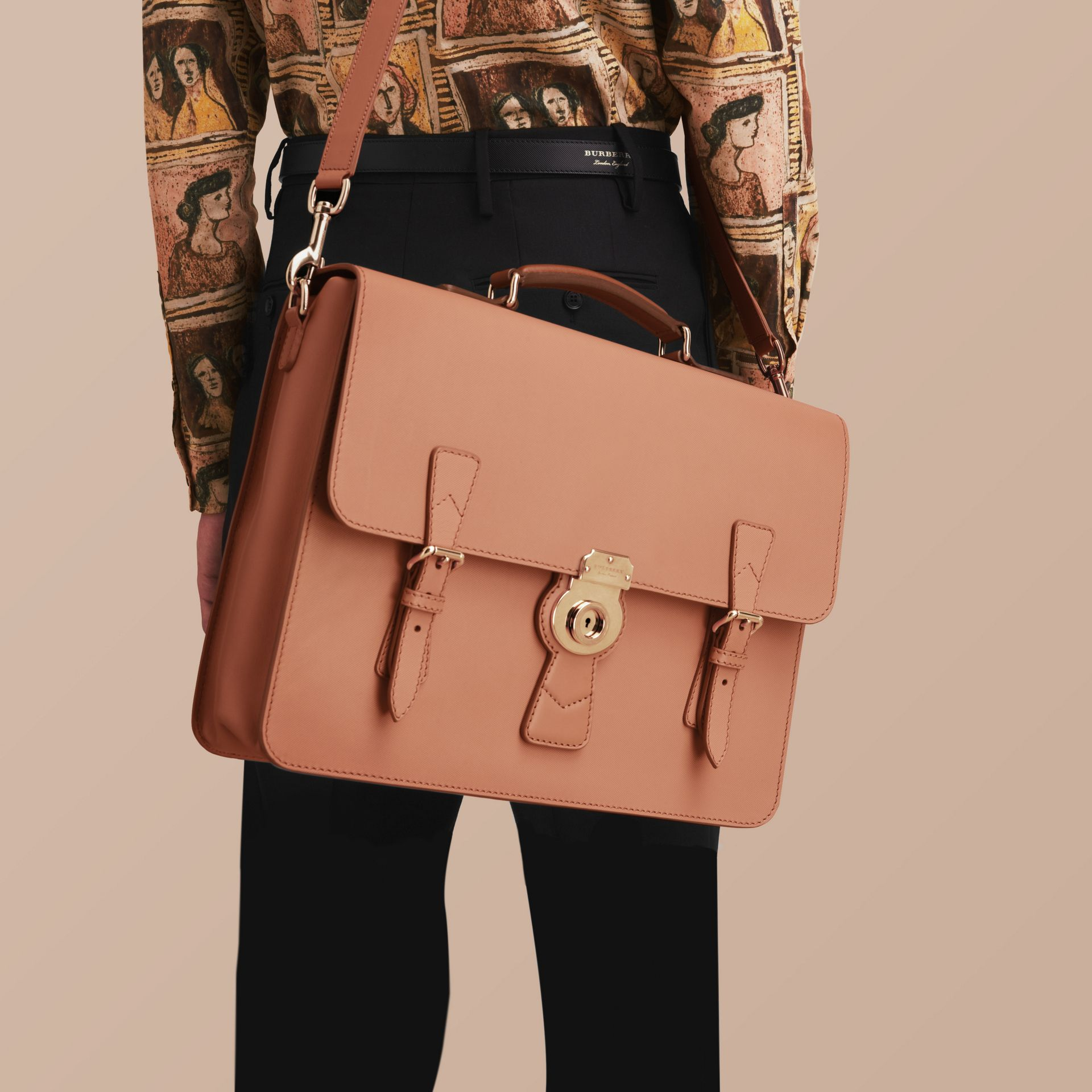 The Medium DK88 Satchel in Pale Clementine - gallery image 7