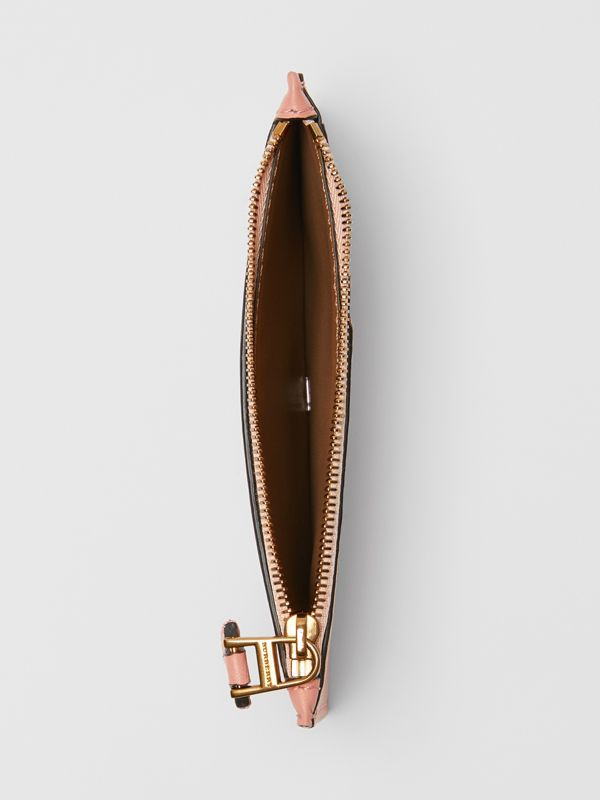 Two-tone Leather Zip Card Case in Ash Rose - Women | Burberry Australia - cell image 2