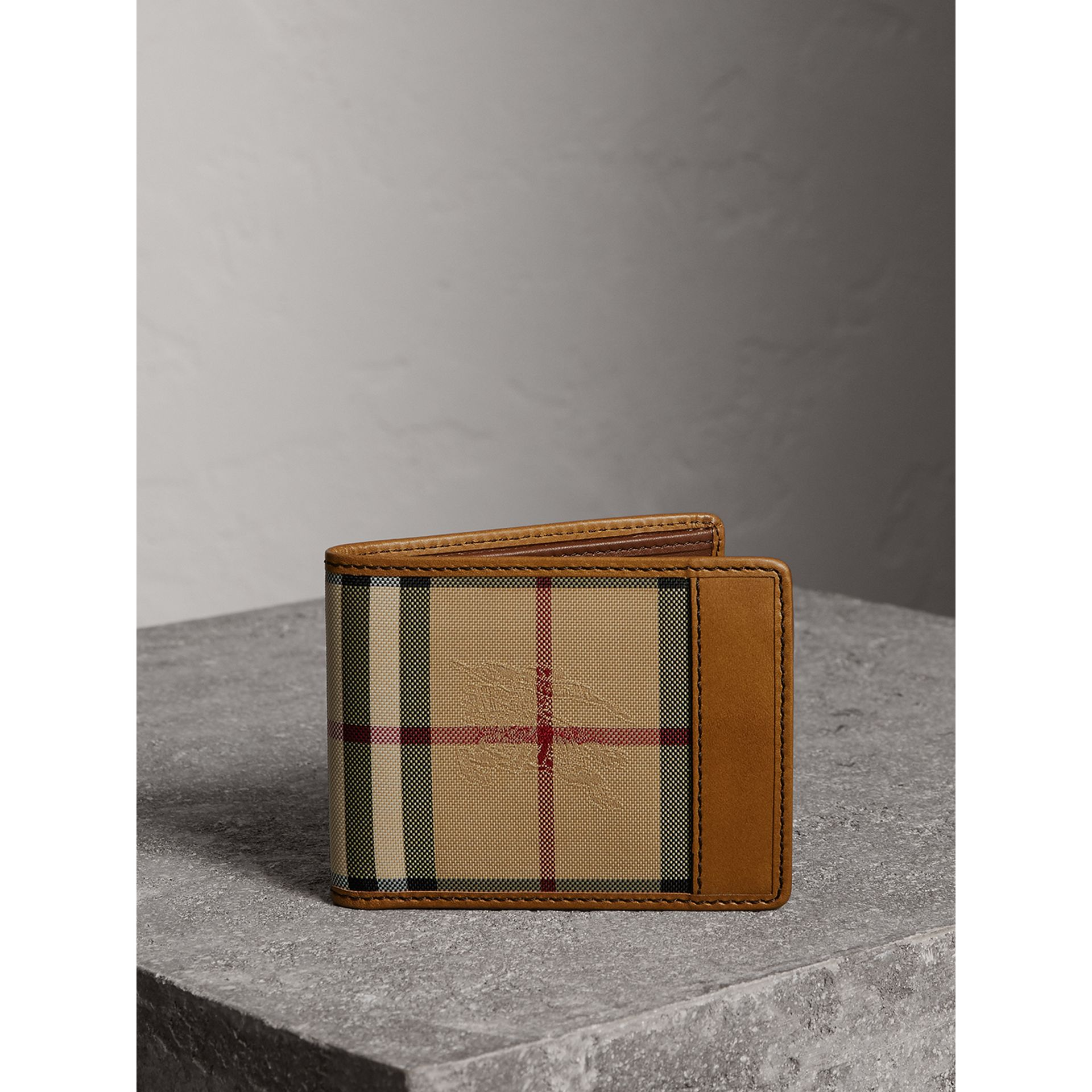 Horseferry Check Bifold Wallet in Tan - Men | Burberry Australia - gallery image 5