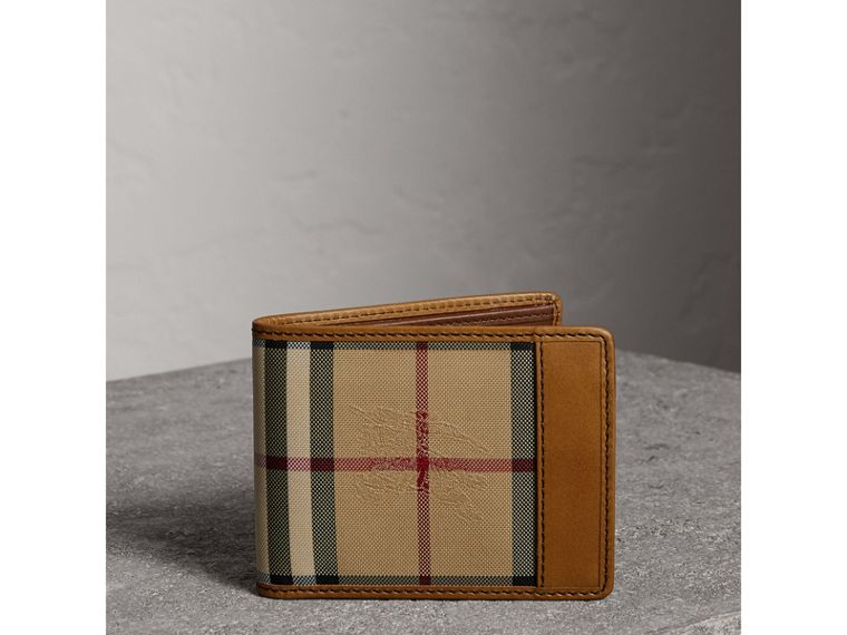Cartera plegable en Horseferry Checks (Cuero) - Hombre | Burberry - cell image 4