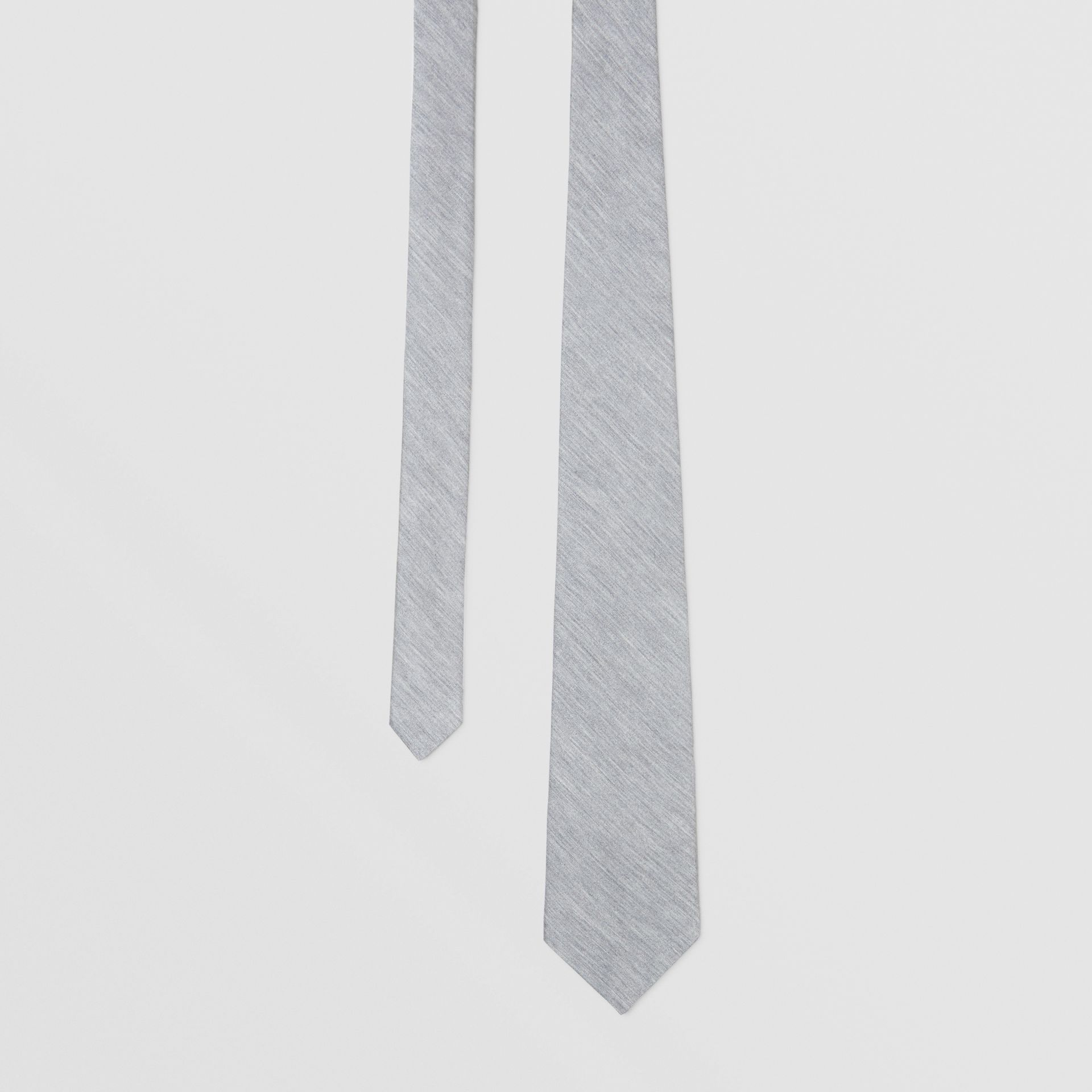 Classic Cut Silk Jersey Tie in Light Pebble Grey | Burberry - gallery image 0
