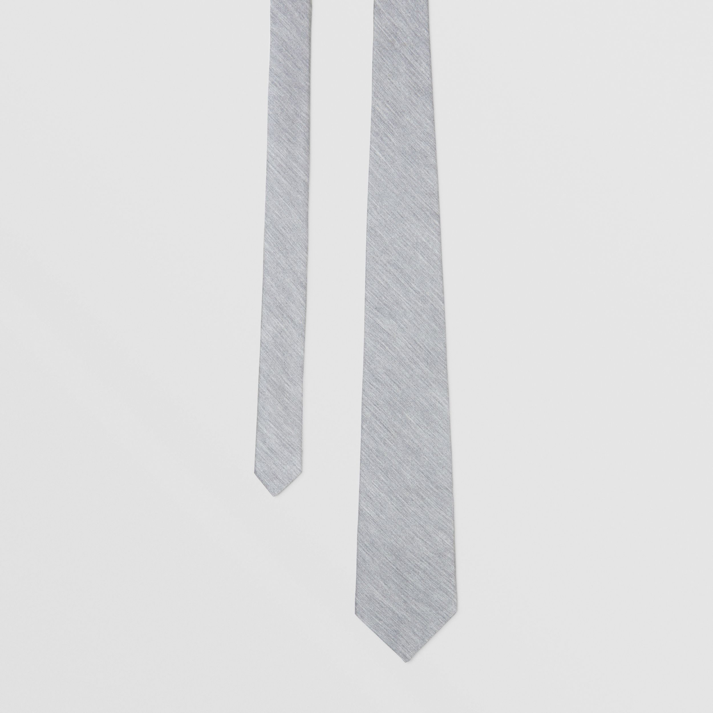 Classic Cut Silk Jersey Tie in Light Pebble Grey - Men | Burberry - 1