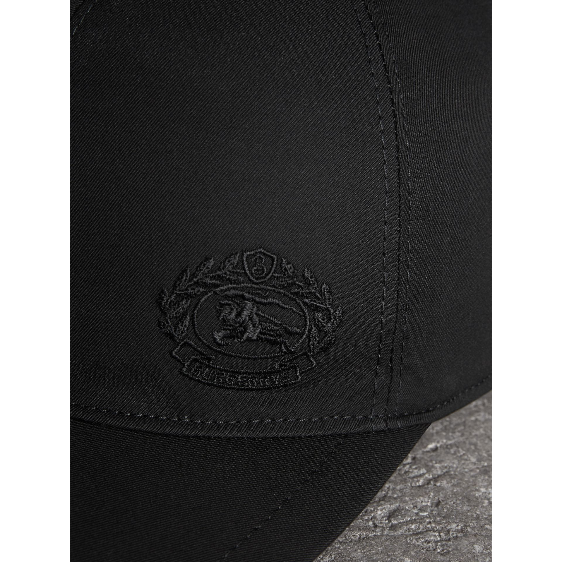 Archive Logo Baseball Cap in Black | Burberry United Kingdom - gallery image 1