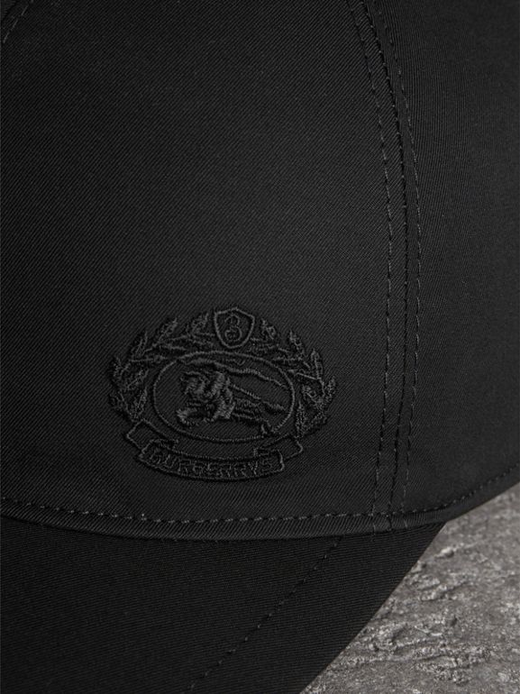 Archive Logo Baseball Cap in Black | Burberry Canada - cell image 1
