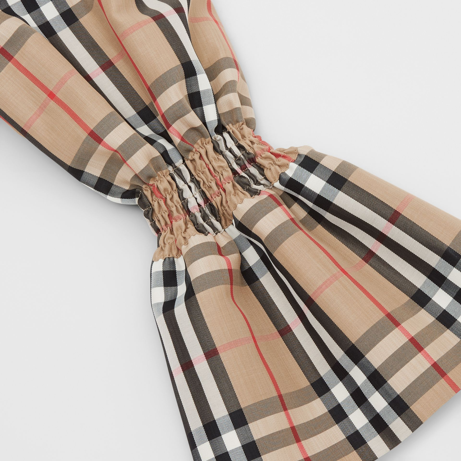 Vintage Check Puff Sleeves in Archive Beige - Women | Burberry Australia - gallery image 8
