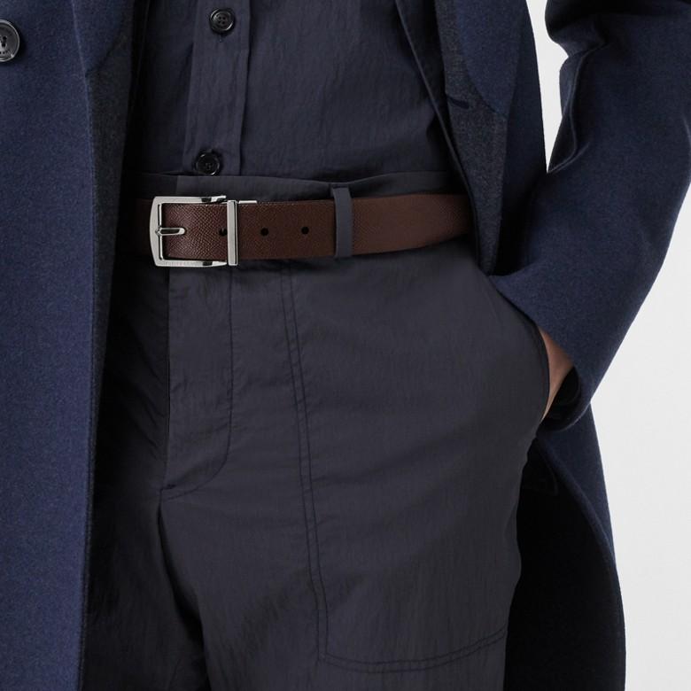 Burberry - Cinturón reversible en piel granulada - 3