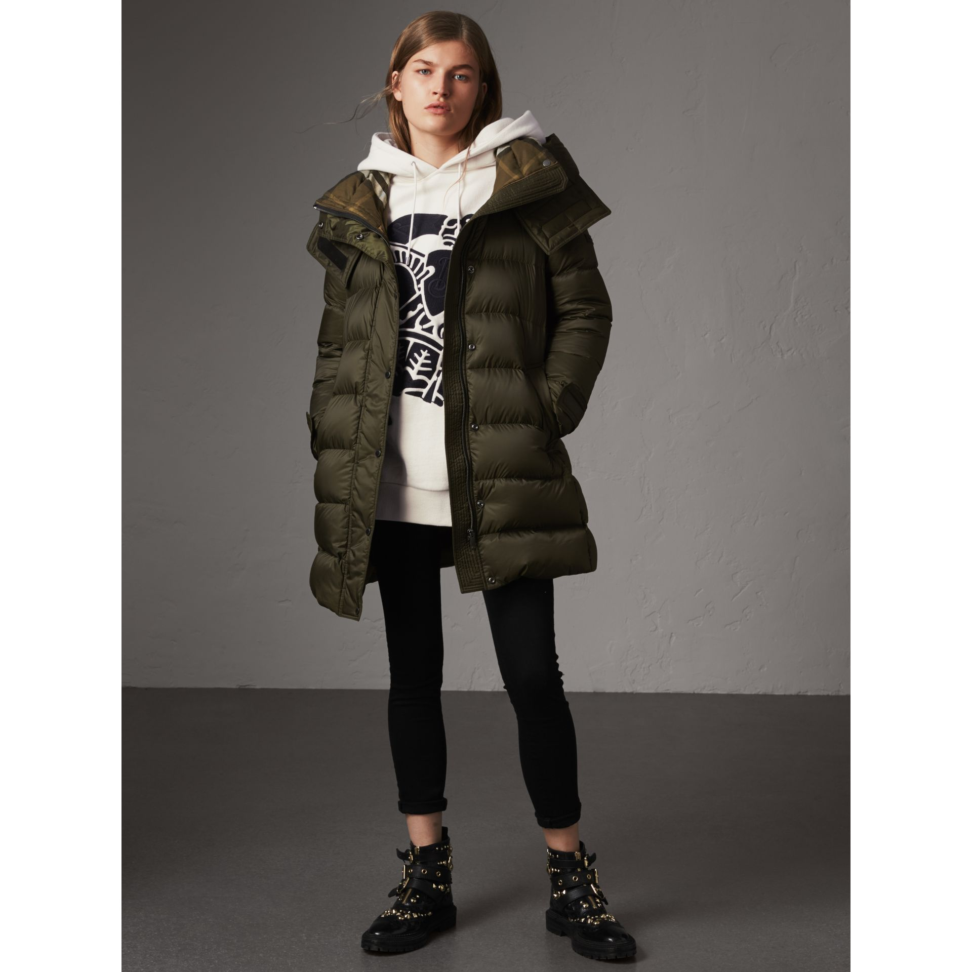 898fd73433bb50 Detachable Hood Fur Trim Downfilled Puffer Coat In Black Women Burberry |  2019 trends | xoosha