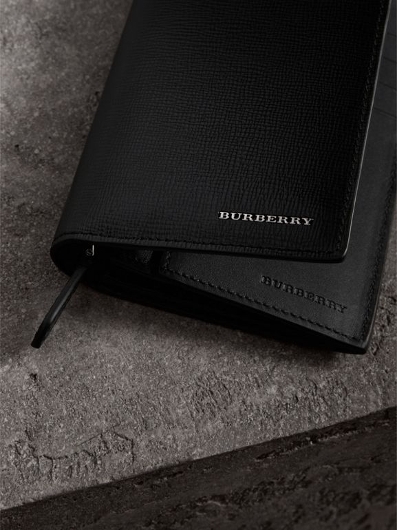 London Leather Continental Wallet in Black | Burberry Singapore - cell image 1