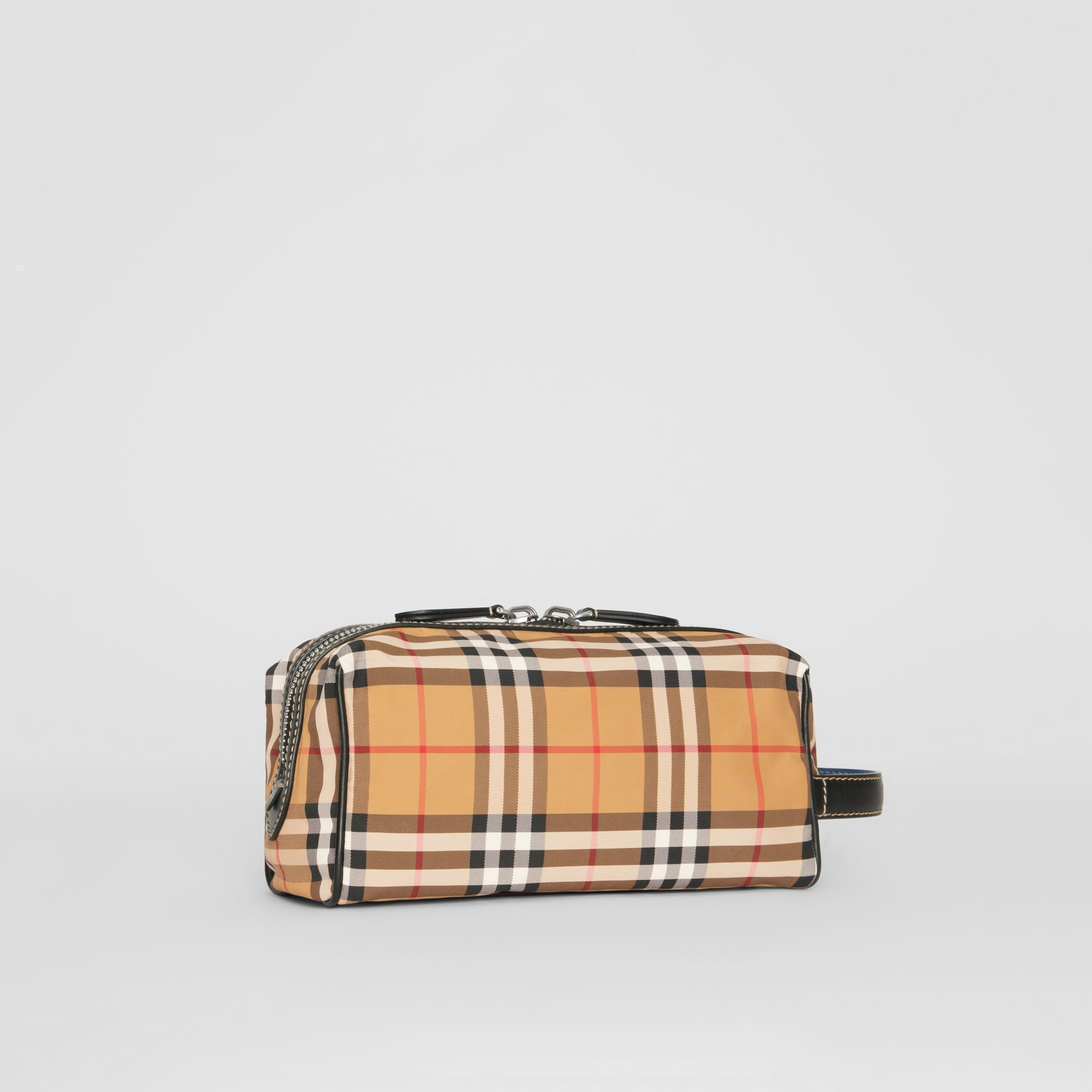 Vintage Check and Leather Pouch in Antique Yellow - Men | Burberry Australia - gallery image 4