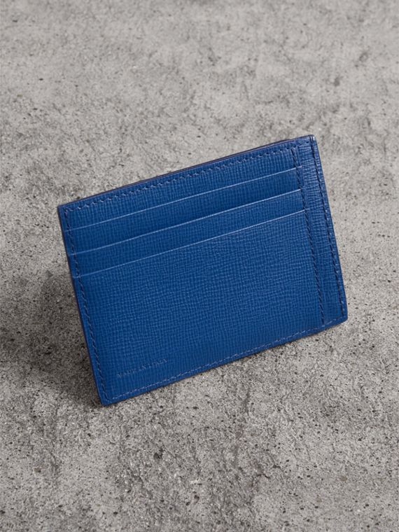 London Leather Card Case in Deep Blue - Men | Burberry - cell image 2