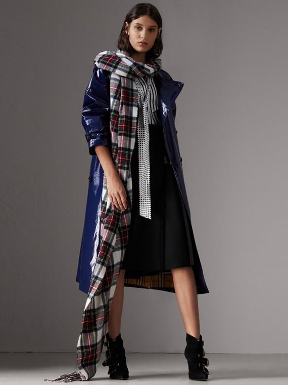Falda escocesa en sarga de lana (Negro)