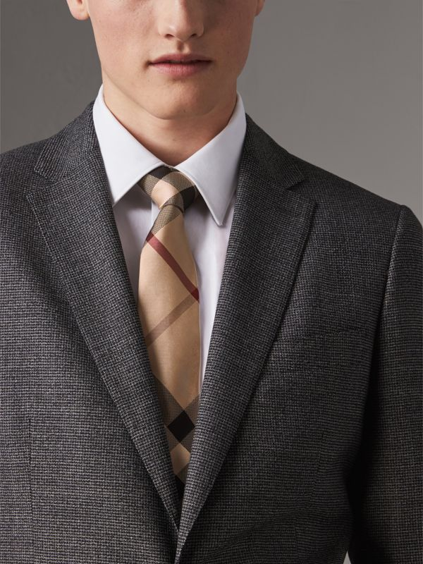Modern Cut Check Silk Tie in New Classic - Men | Burberry United States - cell image 2