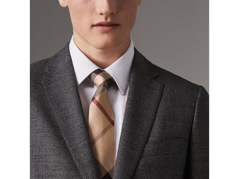 Modern Cut Check Silk Tie in New Classic - Men | Burberry United Kingdom - cell image 2