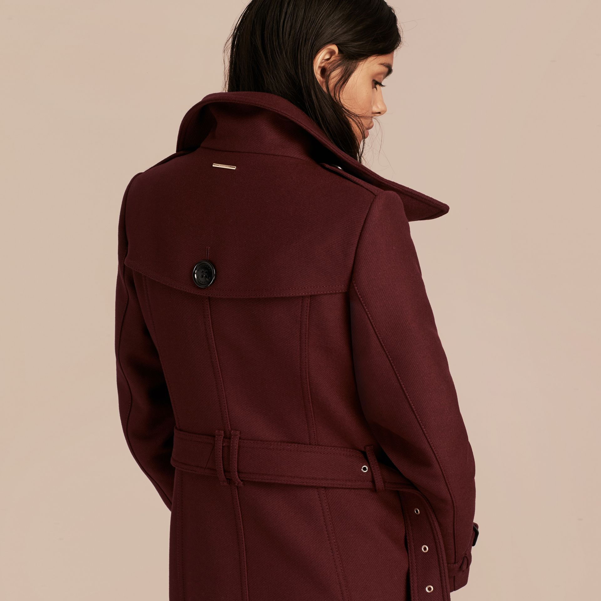 Technical Wool Cashmere Funnel Neck Coat - gallery image 3