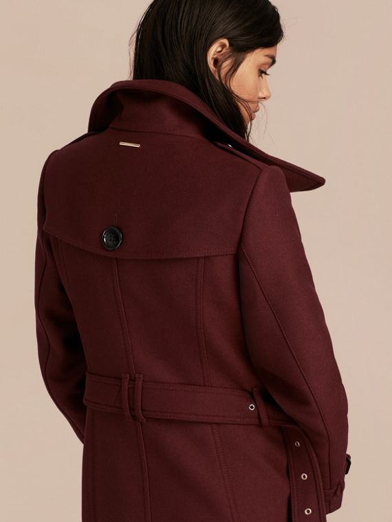 Garnet Technical Wool Cashmere Funnel Neck Coat - cell image 2