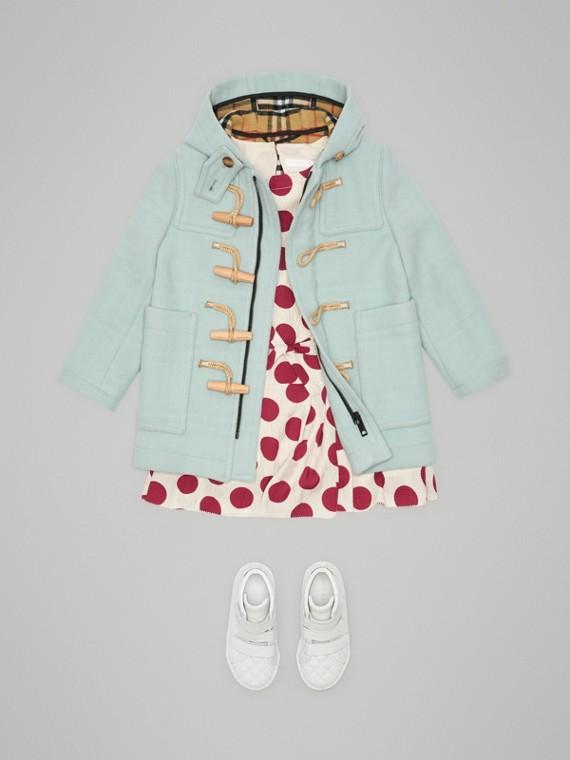 Duffle coat em dupla camada de lã (Menta Claro)