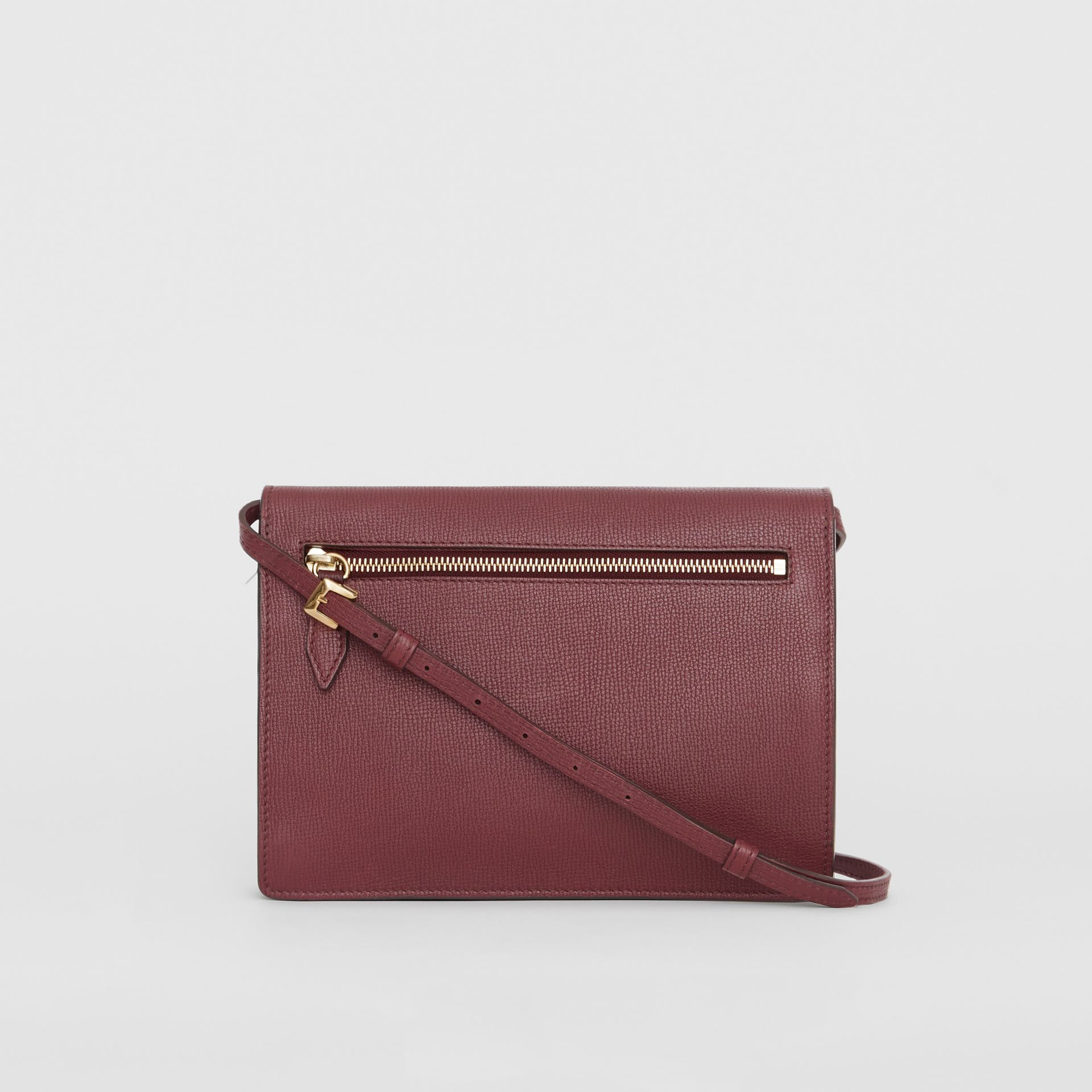 Small Leather and House Check Crossbody Bag in Mahogany Red - Women | Burberry Singapore - gallery image 7