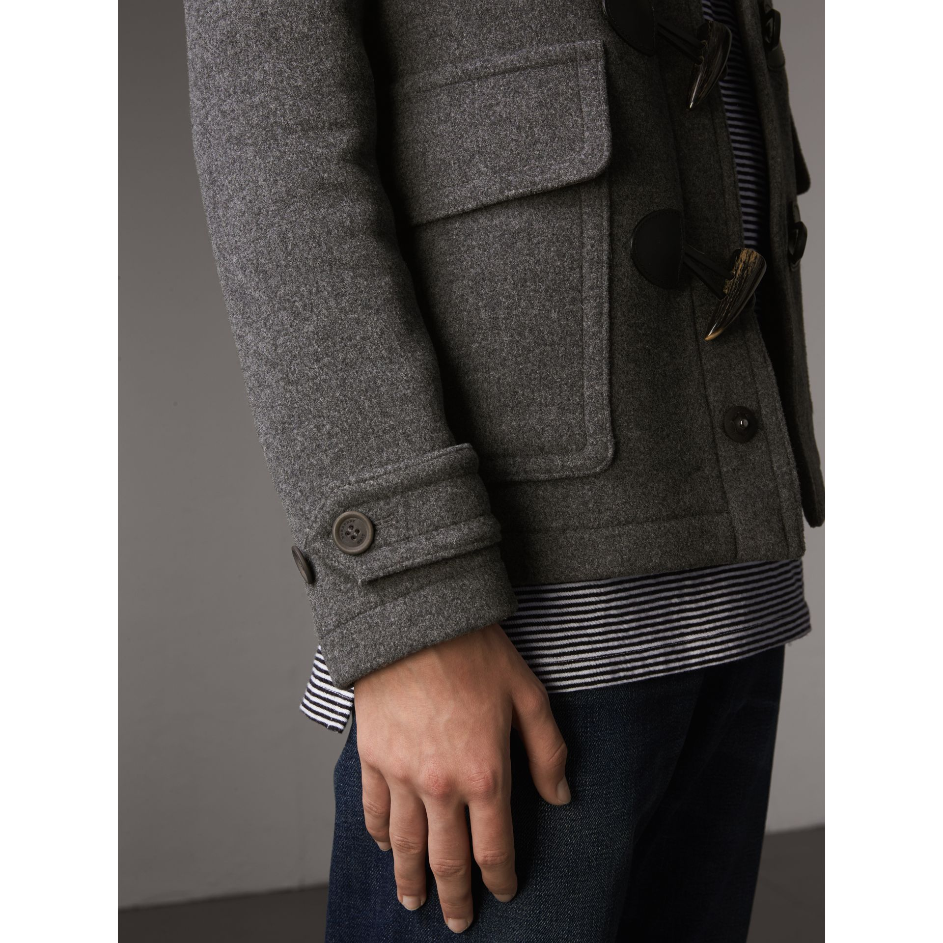 Wool Detachable Hood Duffle Jacket - Men | Burberry Australia - gallery image 5