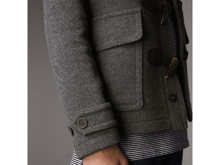Wool Detachable Hood Duffle Jacket - Men | Burberry Australia - cell image 4