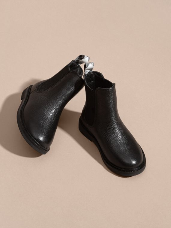 Black Grainy Leather Chelsea Boots - cell image 2