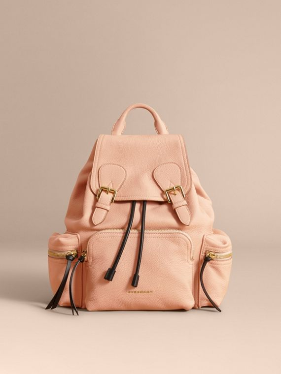 The Medium Rucksack in Deerskin with Resin Chain in Pale Apricot - Women | Burberry