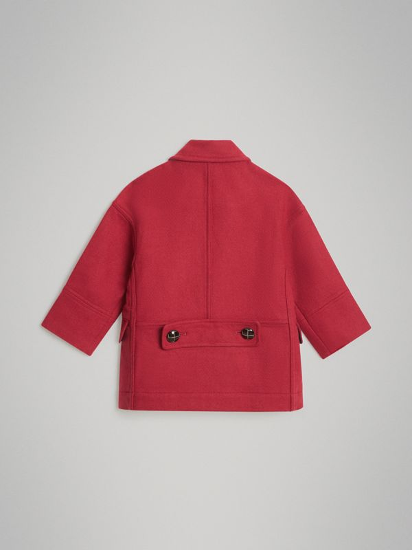 Double-faced Wool Pea Coat in Windsor Red | Burberry Canada - cell image 3