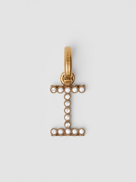 Crystal 'I' Alphabet Charm