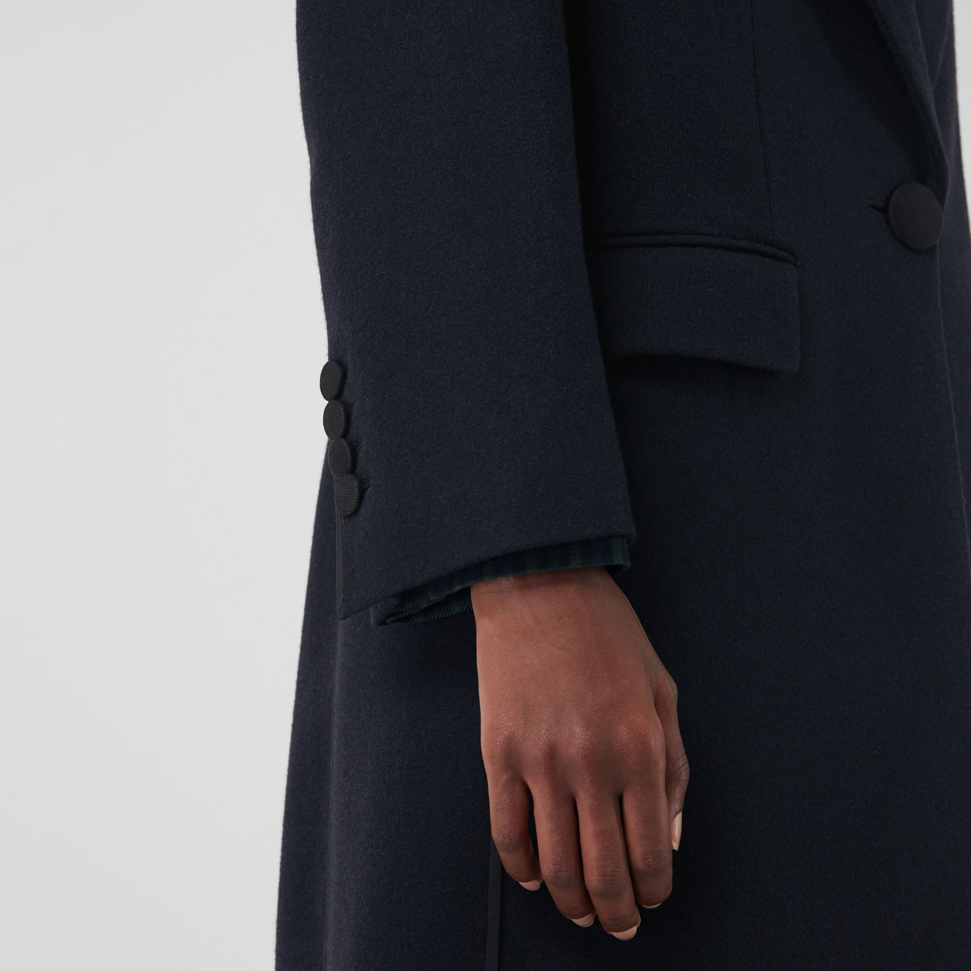 Cashmere Tailored Coat in Navy - Women | Burberry - gallery image 6