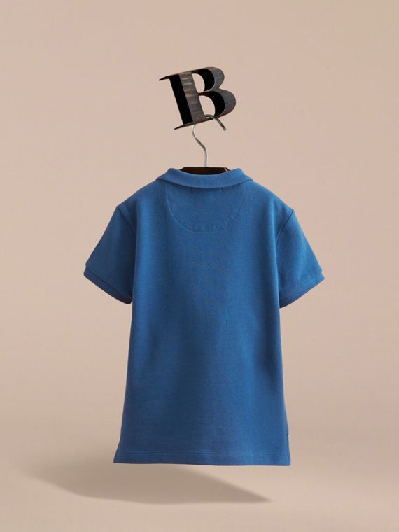 Check Placket Cotton Piqué Polo Shirt - Boy | Burberry - cell image 3