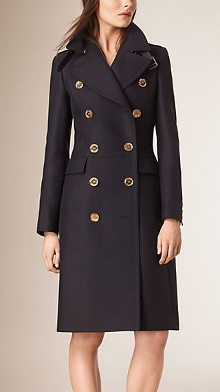 Technical Cotton Wool Military Coat