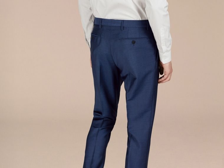 Dark canvas blue Slim Fit Wool Mohair Trousers Dark Canvas Blue - cell image 1