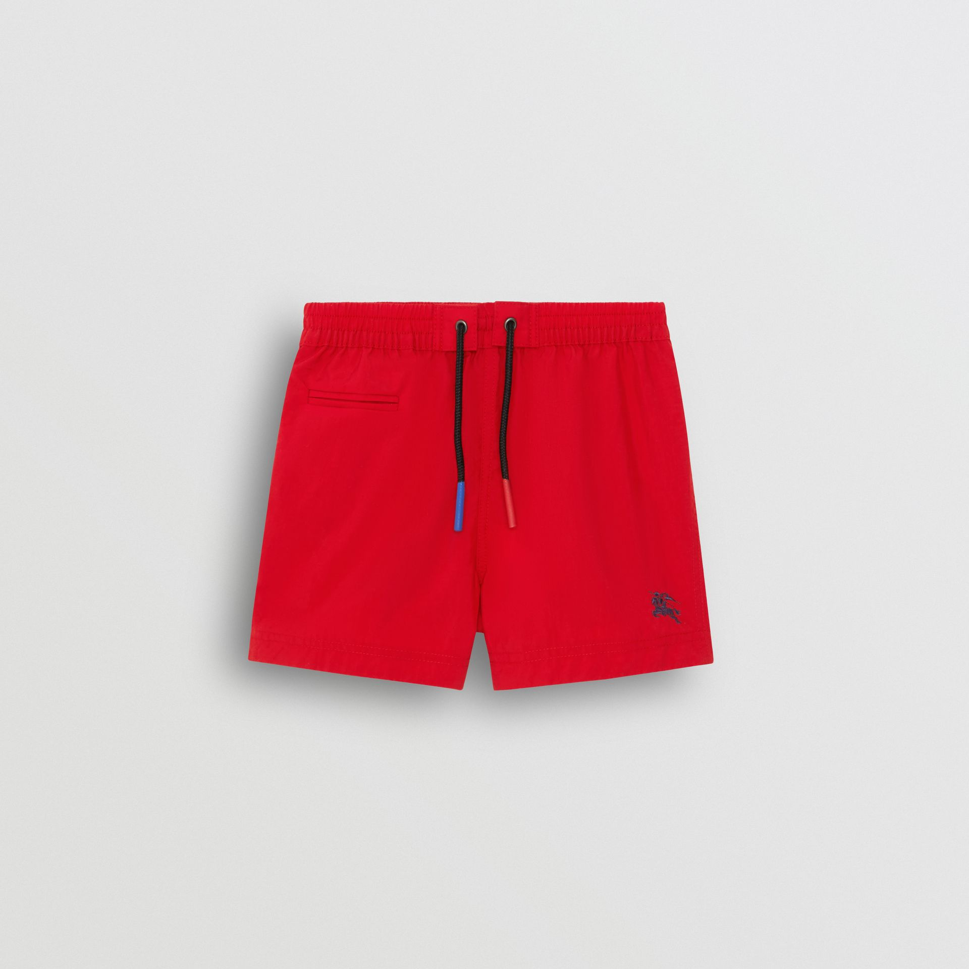 Drawcord Swim Shorts in Military Red - Children | Burberry United Kingdom - gallery image 0