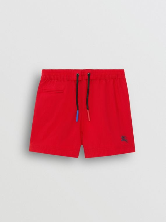 Drawcord Swim Shorts in Military Red